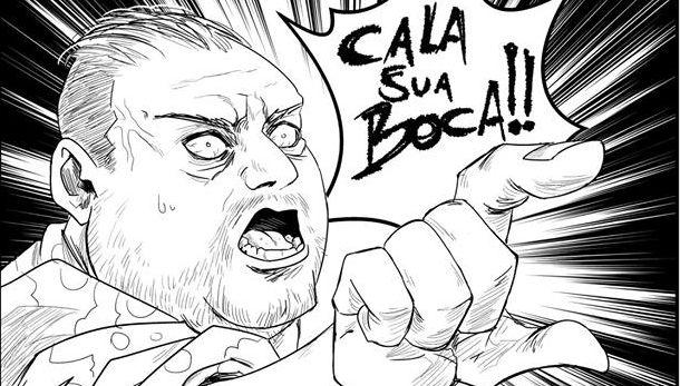 Artista transforma Erick Jacquin em personagem de mangá