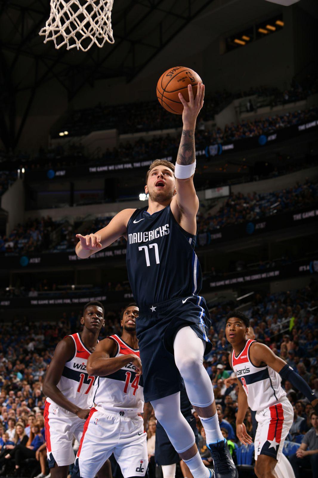 Luka Doni‡ do Dallas foi o cestinha da partida contra os Wizards / Divulgação / NBA