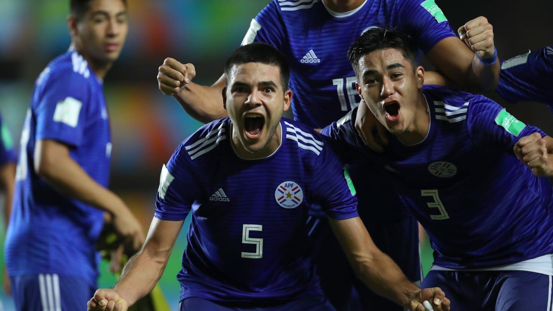 Paraguai comemorando classificação / Divulgação / FIFA
