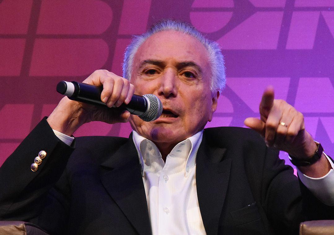 Michel Temer, ex-presidente da República, durante o V Congresso Nacional do Movimento Brasil Livre / Roberto Casimiro/Estadão Conteúdo