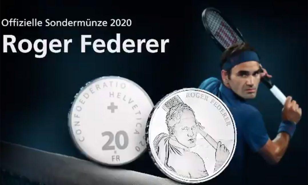 Suíça vai homenagear Federer com rosto em moedas