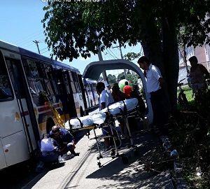 Mulher atropelada por ônibus morre após seis dias internada