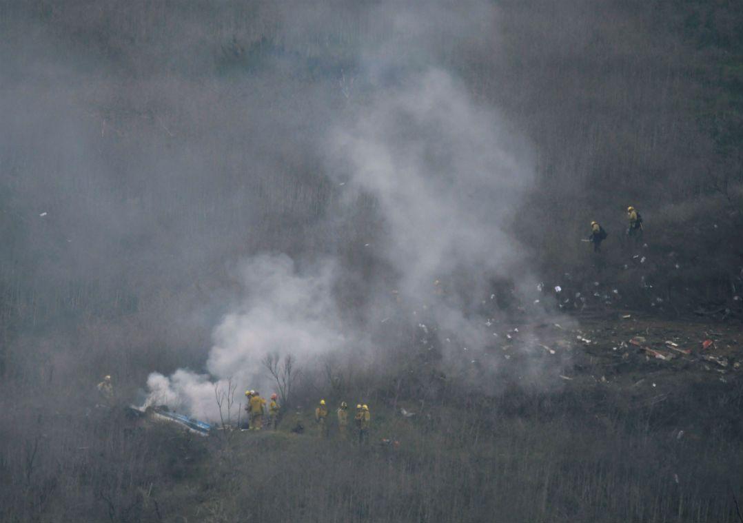 Aeronave caiu na manhã desse domingo em Calabasas
