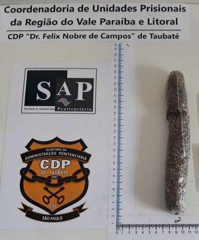 Filha de detento é flagrada com droga no corpo no CDP de Taubaté