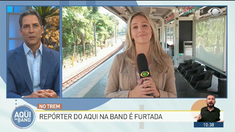 Repórter da Band tem celular furtado em trem durante reportagem