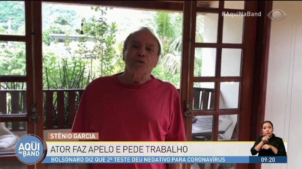 Stênio Garcia grava vídeo pedindo trabalho e emociona Silvia Poppovic