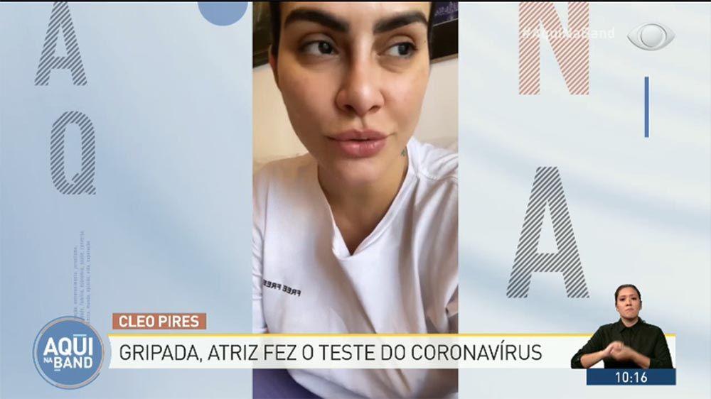 Cleo Pires faz teste de coronavírus e entra em quarentena