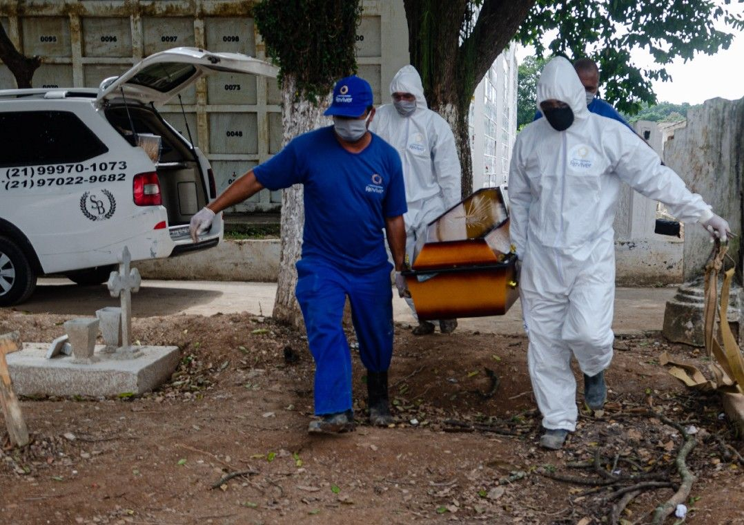 Brasil registra 965 mortes por coronavírus nas últimas 24 horas