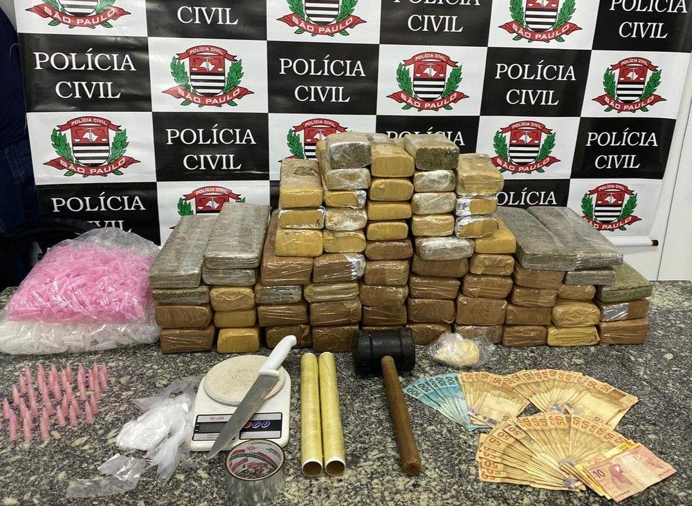 Homem é preso com 60kg de maconha em São Sebastião