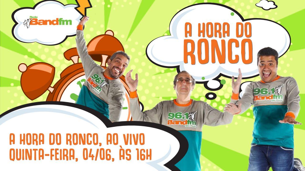 A Hora do Ronco faz live nesta quinta-feira, 04, no YouTube