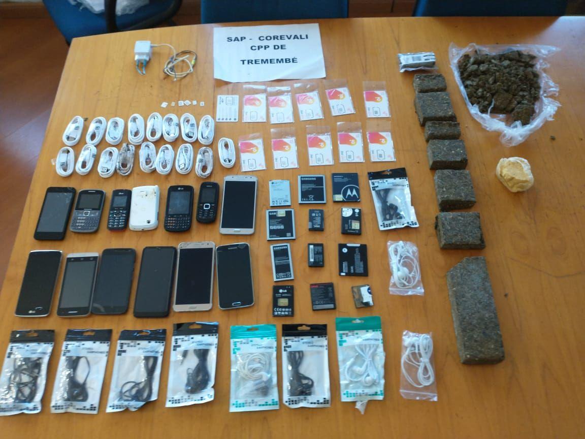 Agentes impedem entrada de droga e de celulares no CPP de Tremembé