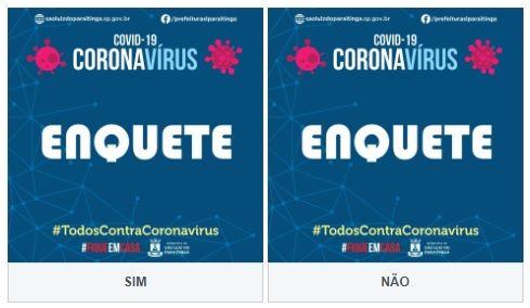 Prefeitura de São Luiz faz enquete para saber opinião pública