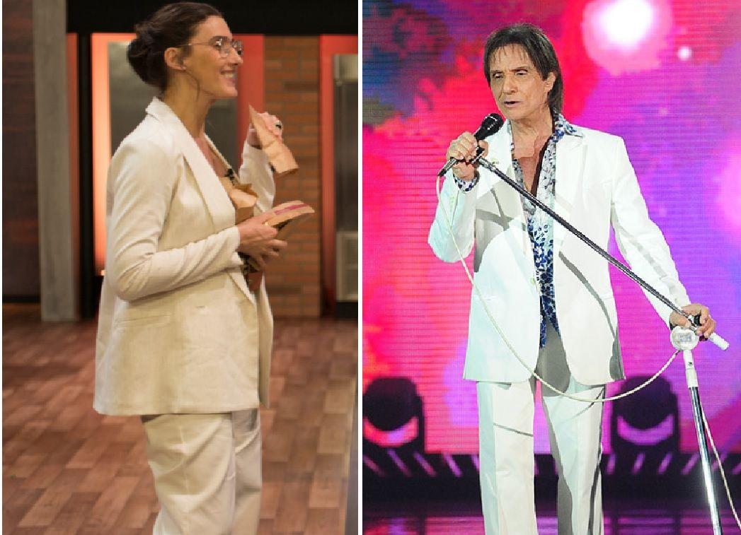 Paola Carosella brinca que foi vestida de Roberto Carlos para festa junina do MasterChef