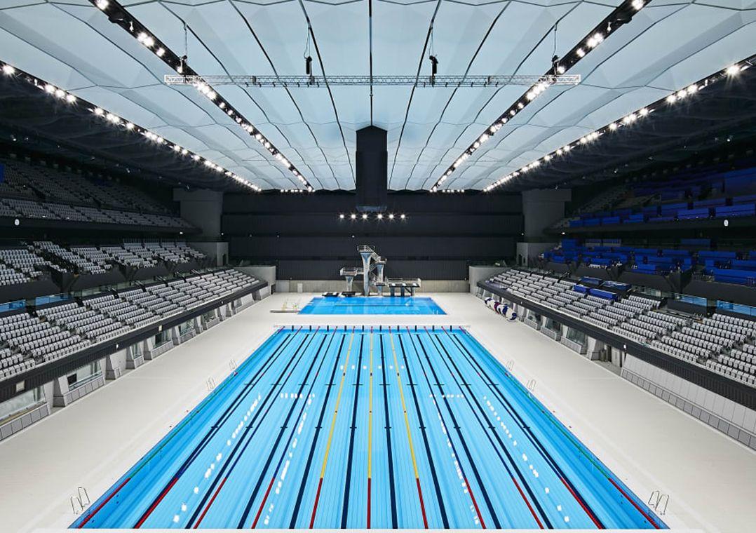 Tóquio inaugura Centro Aquático de R$ 3 bilhões para a Olimpíada