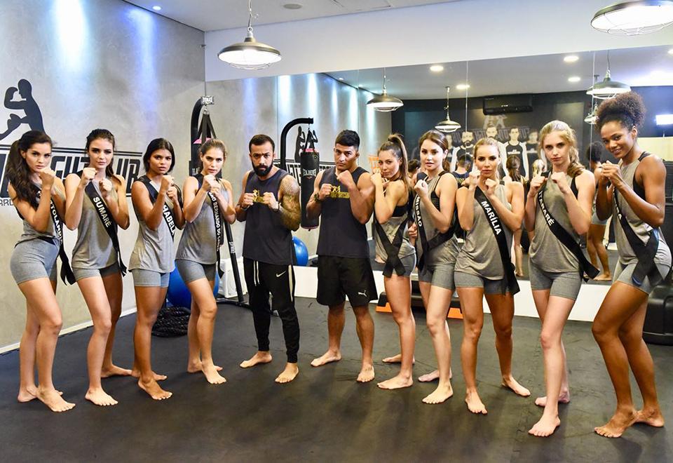 Misses paulistas fazem treino funcional para relaxar