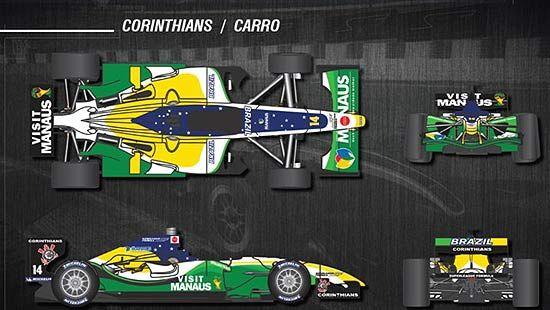 Imagem de como será o carro do Corinthians na Superleague 2011 / Foto: Divulgação/Master Midia Marketing