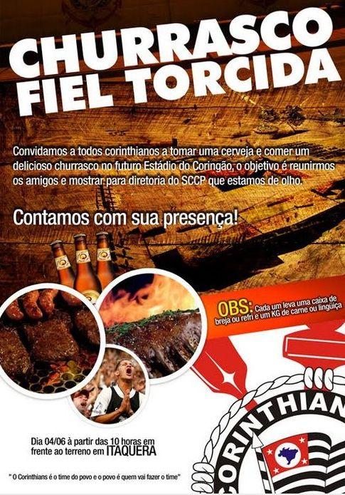 Torcedores Do Corinthians Organizam Churrasco Em Frente Ao Itaquerão