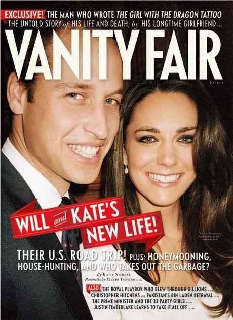 Casal real estampa capa da edição de junho da publicação / Foto: Divulgação/Vanity Fair