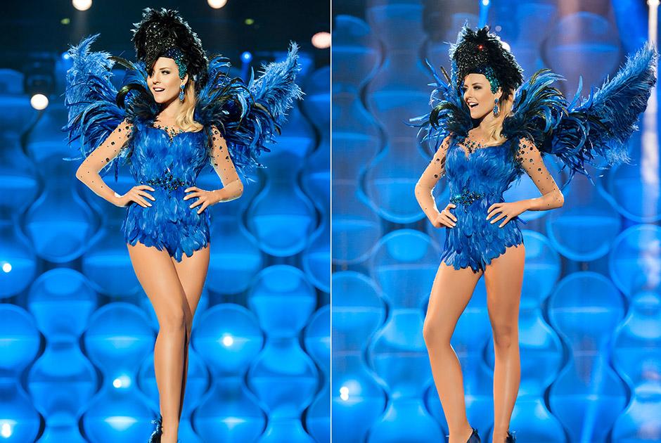 Miss Paraná, Nathaly Goolkate, representa a gralha-azul que tem o hábito de enterrar pinhões