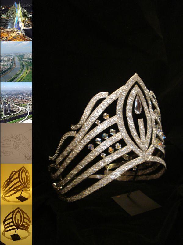 A coroa da Miss São Paulo 2011 foi confeccionada em 45 dias