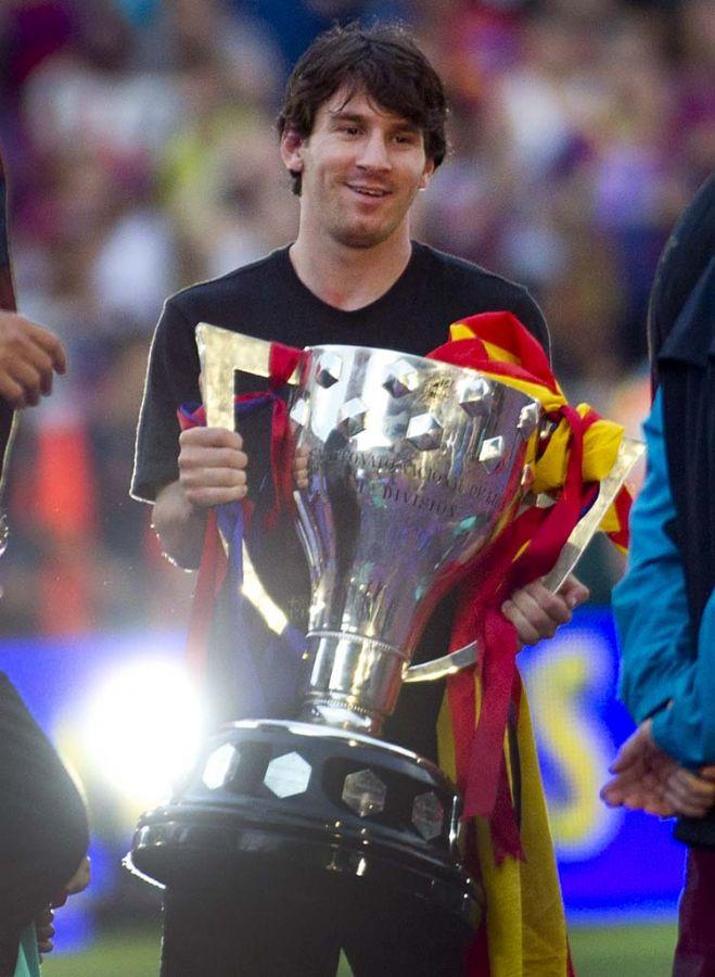 Argnetino Lionel Messi, do Barcelona, foi um dos destaques do time catalão na conquist do título da Liga