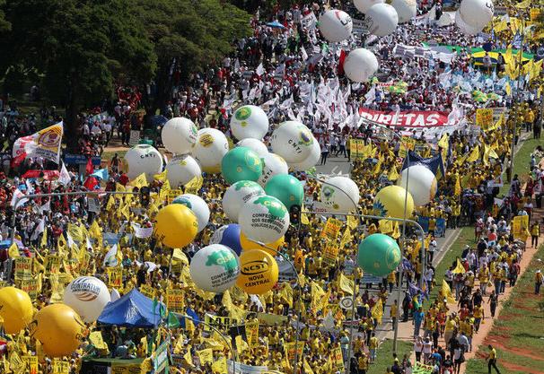 Manifestações contra Temer e as reformas