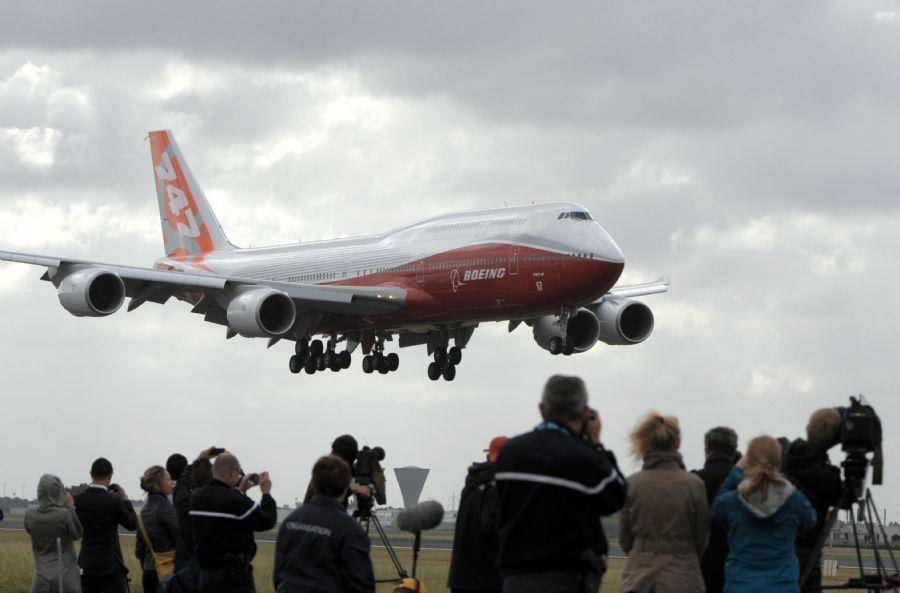 O Boeing 747-8 voou 8.029 quilômetros