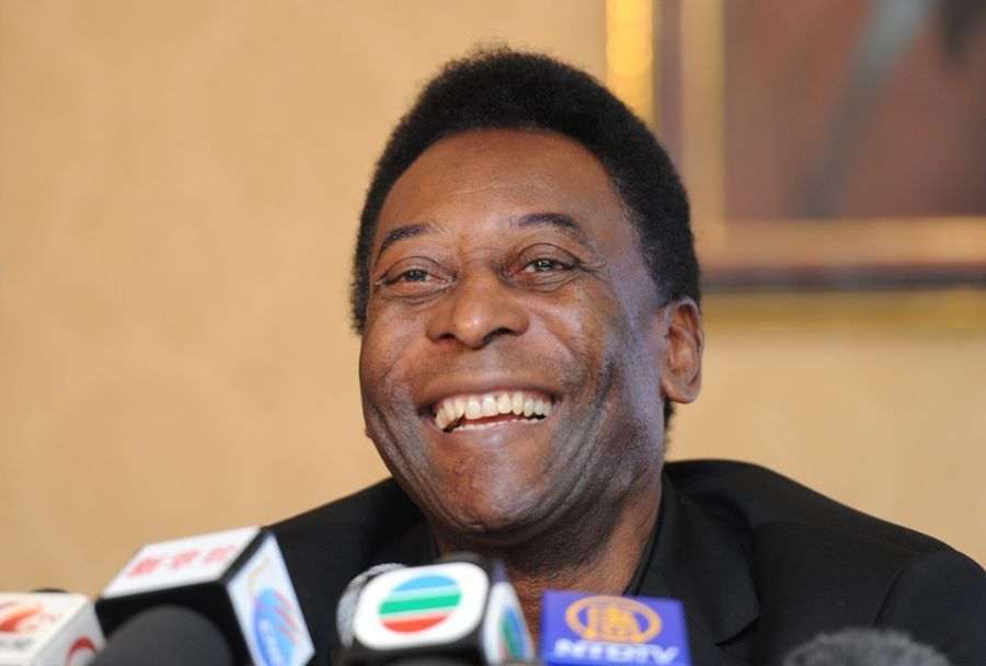 Pelé é o atual embaixador da Copa 2014 / Mike Clarke/AFP