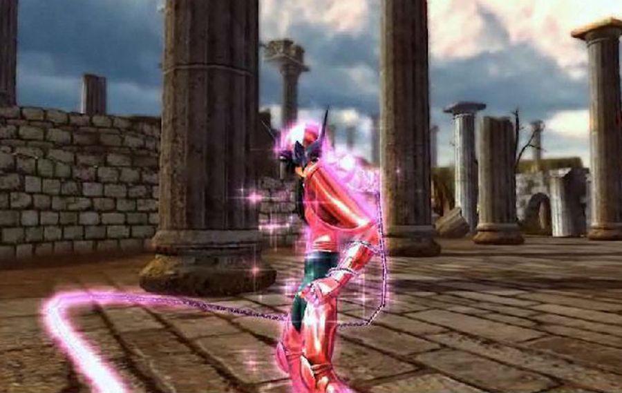 Cavaleiro Shun, de Andrômeda, em detalhe no novo jogo da Bandai para PlayStation