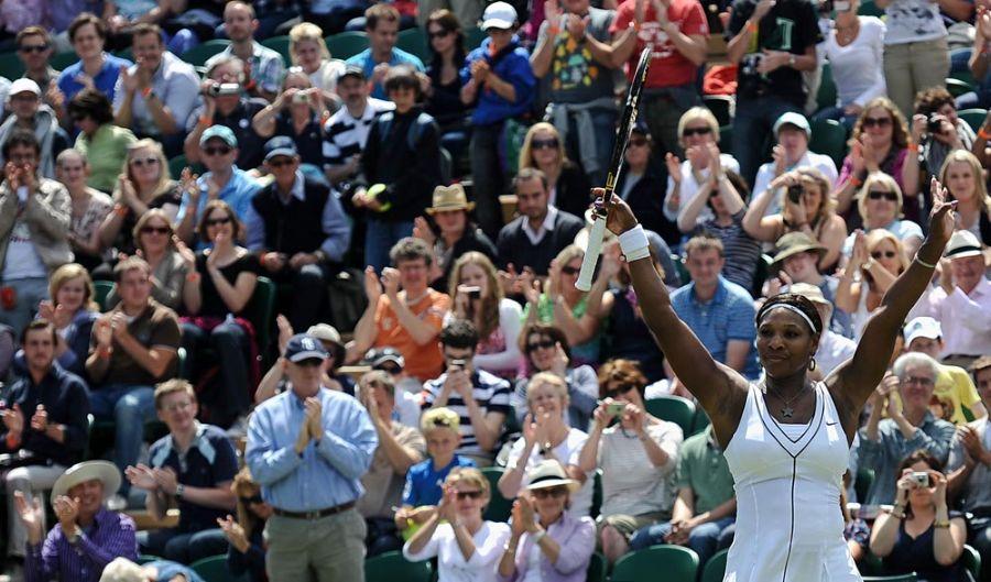 Serena Williams conseguiu se recuperar após perder o primeiro set para a romena Halep