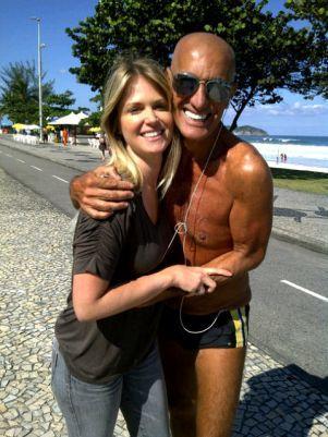 Amin Khader posa ao lado de Susana Werner após confusão / Foto: Divulgação/Twitter