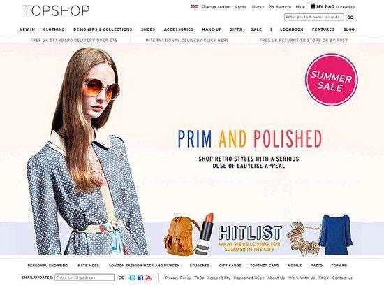 Imagem causou polêmica / Foto: Reprodução/TopShop