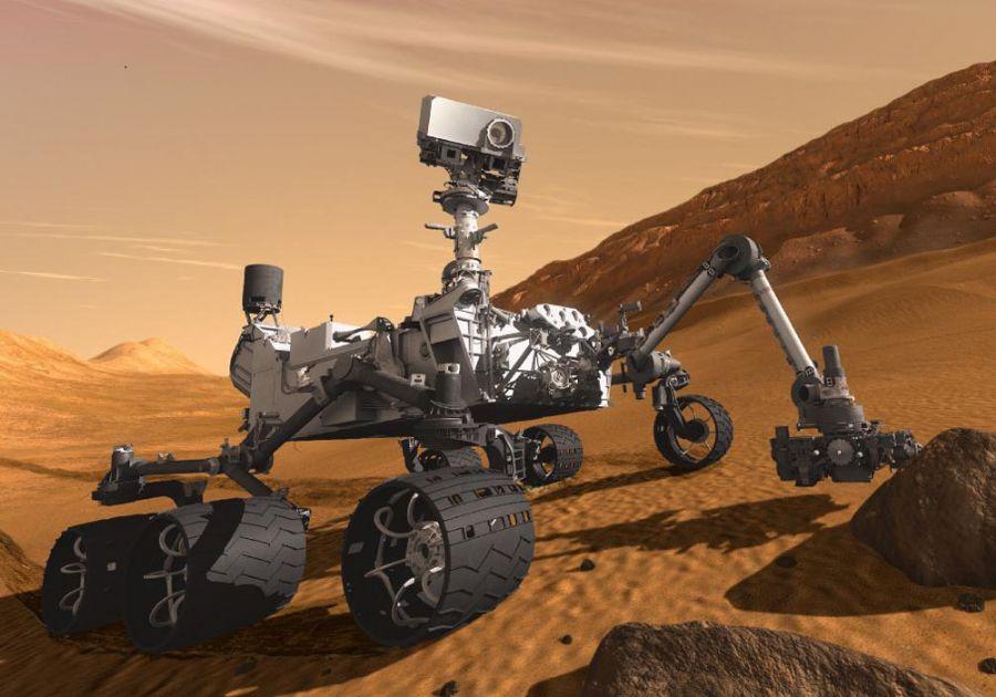 Robô Curiosity vai buscar vida em Marte / Foto: Reprodução/Nasa