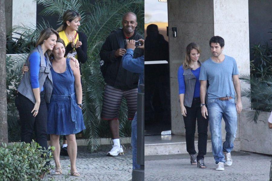Paola Oliveira e Eriberto Leão gravam no Rio / Wallace Barbosa/AgNews