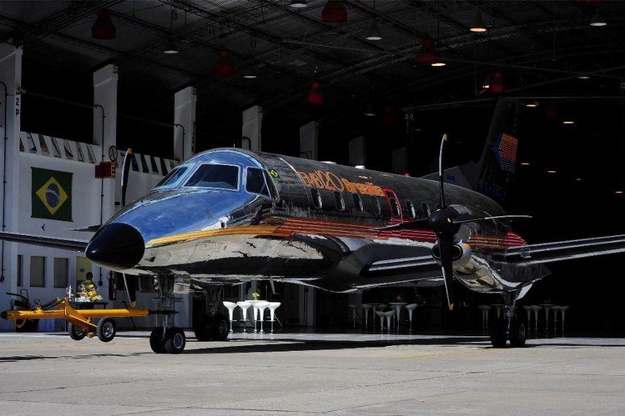 Avião foi reformado durante seis meses por alunos do Senai / Foto: Lucas Lacaz Ruiz/Futura Press