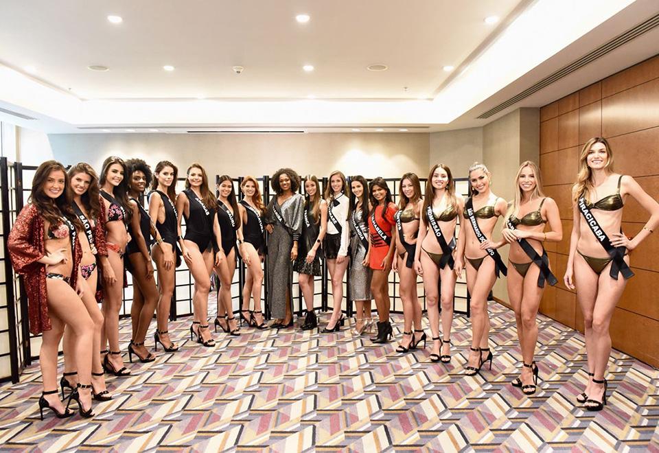 Candidatas ao Miss SP 2018 fazem prova de roupas