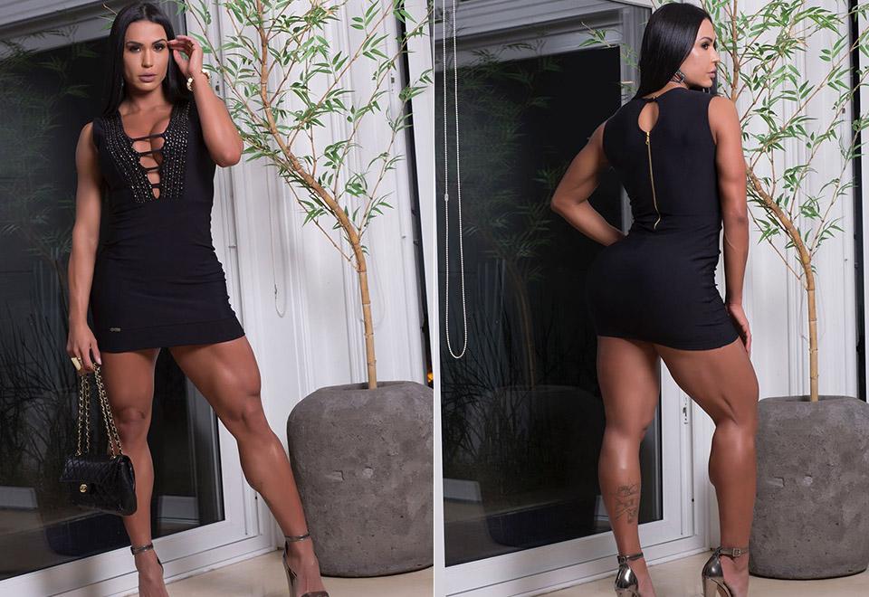 Gracyanne Barbosa exibe pernas musculosas em ensaio