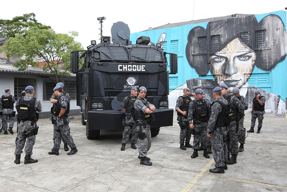 Batalhão de Choque da PM tem festival de grafite