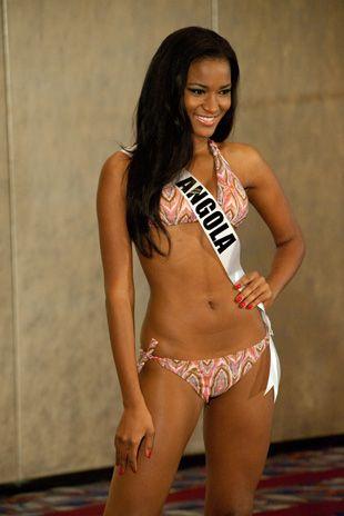 Leila Lopes, Miss Angola 2011, tem 25 anos e vive na cidade de Benguela