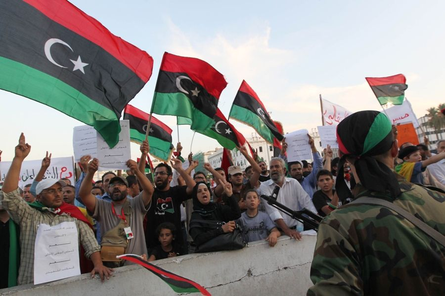 Objetivo é deixar o país em paz após a tomada de rebeldes / Karim Sahib/AFP