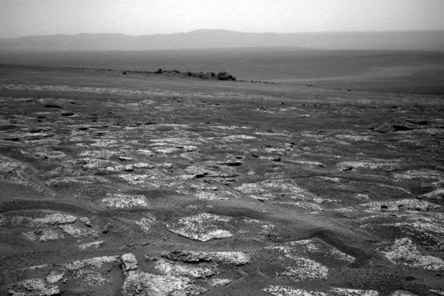 Na imagem é possível ver o horizonte de Marte / NASA/JPL-Caltech