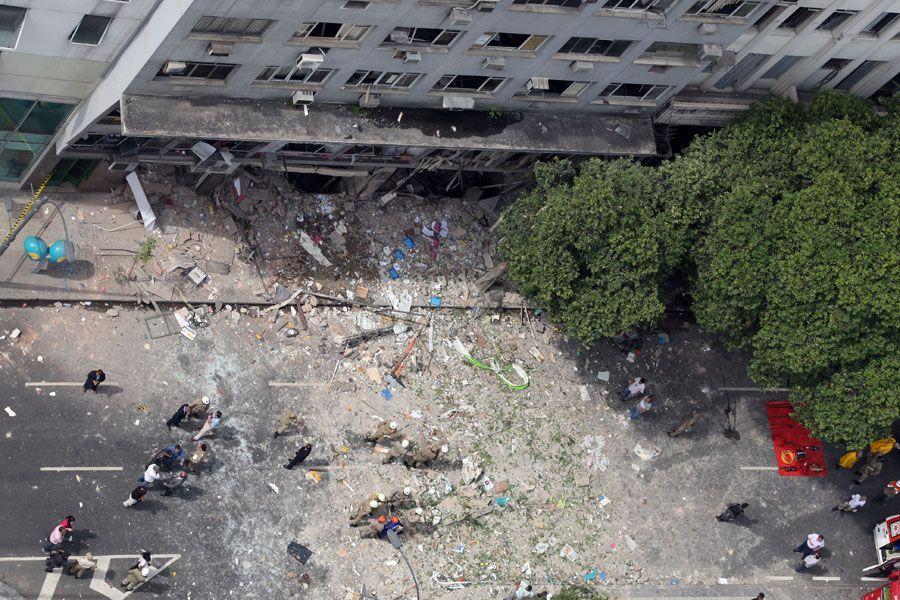 Restaurante onde houve a explosão utilizava gás de cozinha / Agência Estado