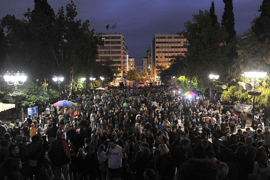 Protestos contra crise econômica pelo mundo