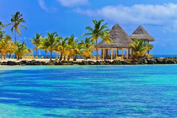 A praia mais popular entre os turistas é Punta Cana