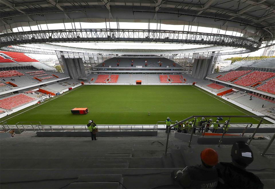Veja o estádio de Ecaterimburgo, um dos palcos da Copa 2018