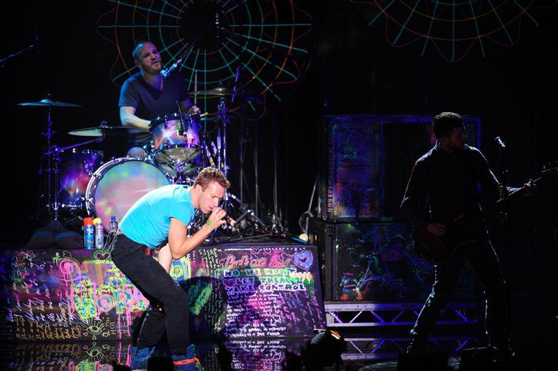 A banda Coldplay agitou o público da premiação