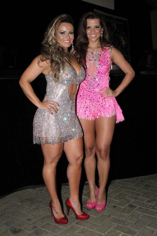 Viviane Araújo e Renata Santos exibem boa forma