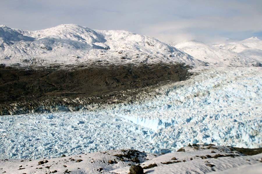 Glaciar Jorge Montt foi o que apresentou maior redução na Patagônia  / Centro de Estudios Cientificos/ AFP