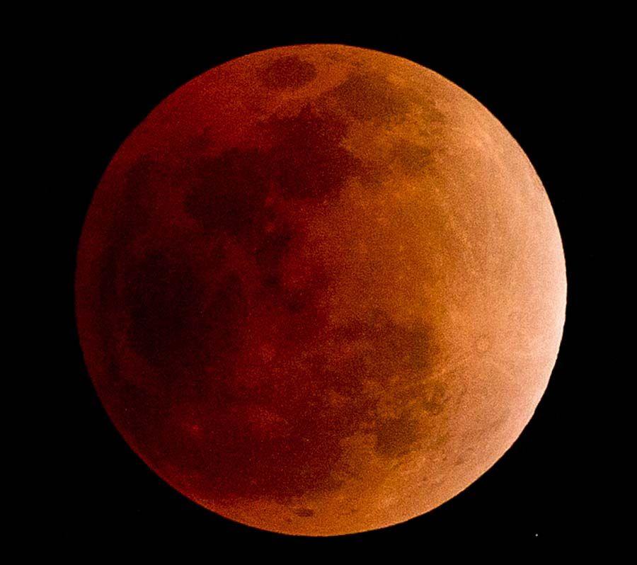 Lua pode adquirir tonalidade vermelha durante eclipse lunar total / Nicolas Asfouri/ AFP