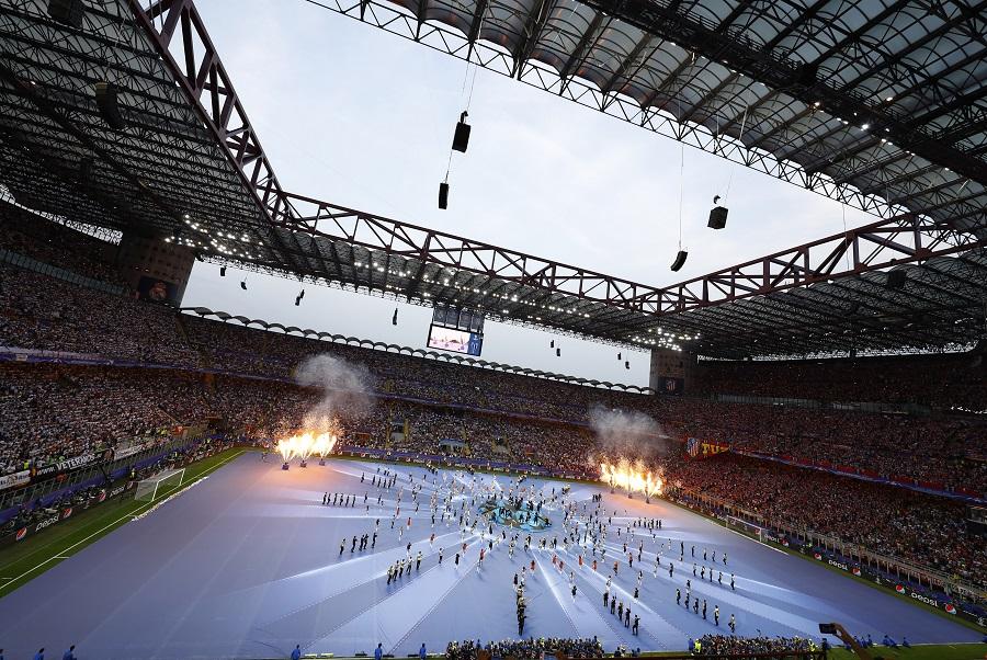 Cerimônia de abertura da final da Liga dos Campeões